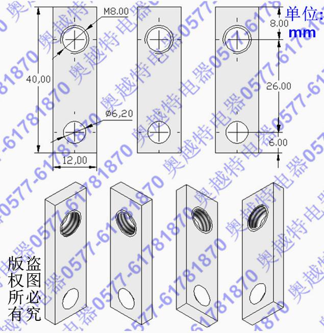 适配cm1-63型接线板cad尺寸图